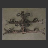 Pair French Antique Architectural Iron Brackets