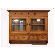 Vintage European Pine Hanging Cupboard / Cabinet