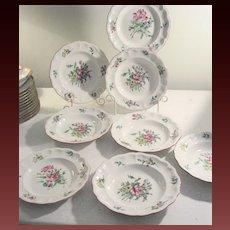 8 Vintage K&G Old Strasbourg Luneville France Soup Bowls