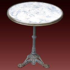 Vintage French Iron Base Gueridon Bistro Table