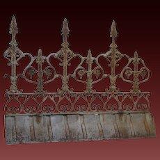 Antique French Ornamental Iron Ridge Cresting