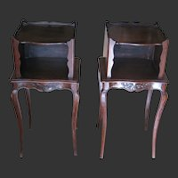 Pair of Country French Oak Nightstands