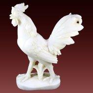 Vintage Alabaster Rooster