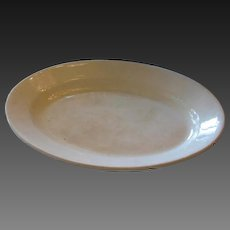 Large English Antique white Ironstone Platter 1880