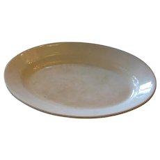 Large English Antique white Ironstone Platter 1880