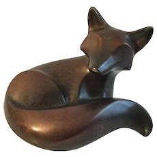 Micheal Tatum 2006 Laying Kit Fox Bronze Sculpture #32/200