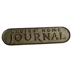 Great Old Cast Iron Newspaper Newsstand Advertising Paperweight