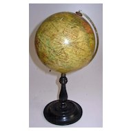 "Geographia Terrestrial Globe 6""  1923 on Stand"