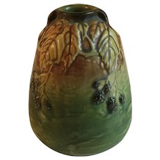 Roseville Pottery Blackberry Vase 5""