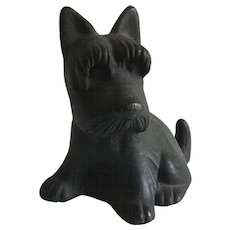 Black Scotty Dog Full Body Cast Iron Doorstop