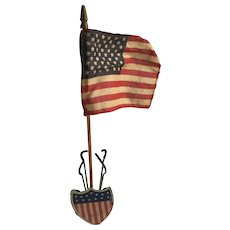 Vintage Flag Shield Flag Holder