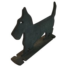 Old Cast Iron Scottie Dog Boot Scrape