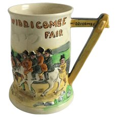 Crown Devon Fieldings MUSICAL Tankard Mug Widdicobe Fair Uncle Tom Cobleigh and Crew
