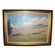 Duncan Smith Impressionist Landscape Oil on Canvas Signed