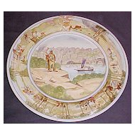 Hotel Jefferson Progress of Miss. Valley 1912 Hand Painted Plate