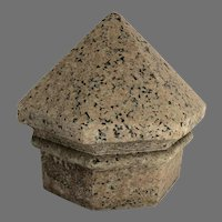 Large Peaked Granite Finial