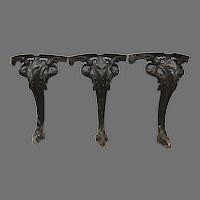 Vintage Set of Three Cast Iron Legs Re-purpose