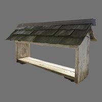Vintage Hand Made Chicken Feeder with Roof Peaked Country