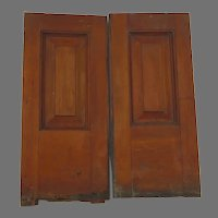 Quality 1900's Cherry Paneled Cupboard Doors Paneled Architectural