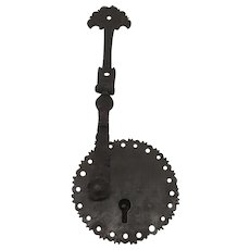 Spanish Colonial Iron Lock Escutcheon Hasp 18th Century