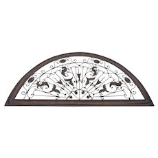 Vintage Large Arched Metal Wall Art Transom