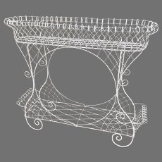 Late 19th Century Wire Work Garden Planter Plant Stand Cart