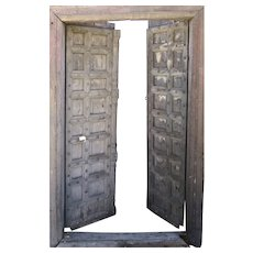 Double Entry Gothic Door with Paneled Motif