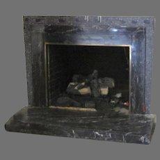 Black Marble Vintage Fireplace Surround