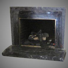 Black Marble Vintage Fireplace Surround