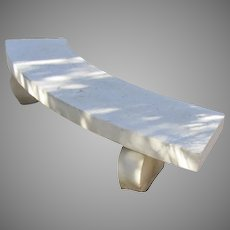 Marble Curved Bench 1930's