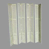 Vintage Very Nice Quality Tall Interior Shutter Door Windows