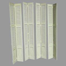 Vintage Very Nice Quality Tall Interior Shutter Door Windows