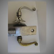 Vintage Chrome Brass Lever Door Knob and Lock