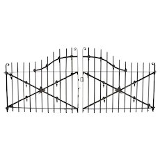 Pair of Wrought Iron Driveway Gates Garden