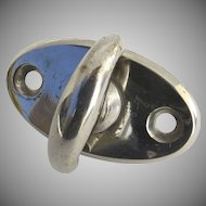 Vintage Chrome Oval Latch  1940's Home