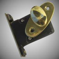 Vintage Brass Deadbolt Throw Lock Latch