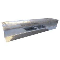 Large Vintage 1900's Butler's Zinc Sink