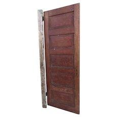 Vintage Paneled Weathered Door