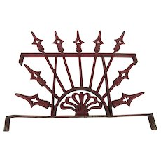 Wrought Iron and Cast Aluminium Window Guard Transom with Red Paint Speers Design