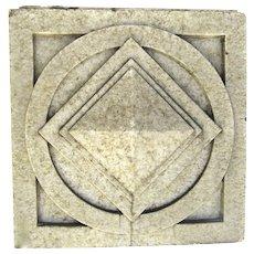 Large Glazed Terra Cotta Square Fragment Denver Pottery Works c 1900