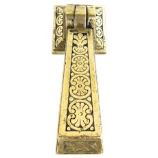 French Camion Freres Heavy Brass Door Knocker