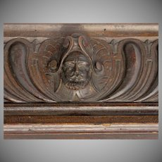 European Carved Fragment Architectural Pediment Carved Soldier