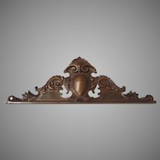 Carved Walnut Pediment Piece