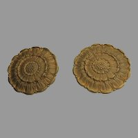 Two (2) Bronze Ormolu Rosettes 19th Century
