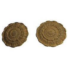 Two (2) Bronze Ormolu Rosettes 19th Century