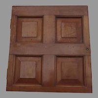 1900's Small Architectural Cherry Paneled Cupboard Door
