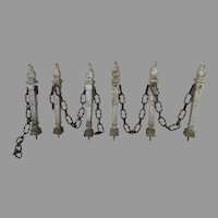 French Cast Iron Gate Fence Architecture Flame Finial