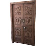 Pair of 19th Century Carved Inlaid Doors