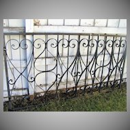 Vintage Iron Architectural Window Grate Scroll