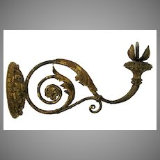 French One Arm Carved Gilt Wall Sconce Provenance Schloss Herblingen Castle A.731